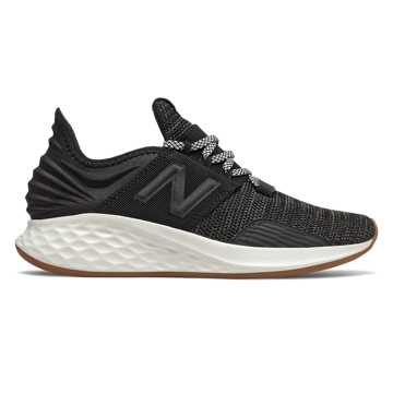 New Balance Fresh Foam Roav Knit, Black with Sea Salt