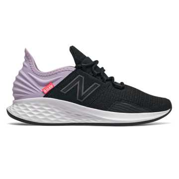 New Balance Fresh Foam Roav, Black with Dark Violet Glo & Magnet
