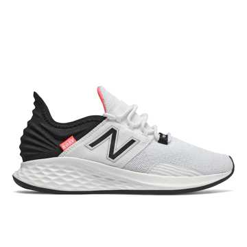 New Balance Fresh Foam Roav, White with Black & Guava