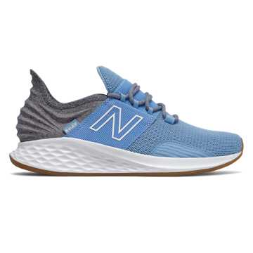 New Balance Fresh Foam Roav Tee Shirt, Team Carolina with Light Aluminum