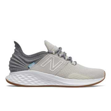 New Balance Fresh Foam Roav Tee Shirt, Moonbeam with Light Aluminum