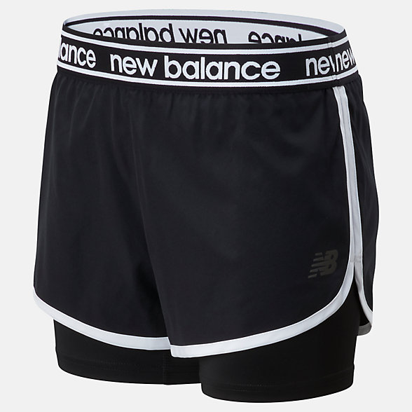 New Balance Relentless 2 In 1 Short, WS01177BK