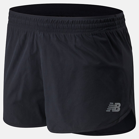 New Balance Accelerate Short 2.5 Inch, WS01206BK