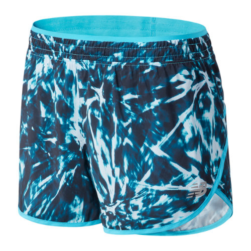new balance women's printed accelerate short 2.5 inch