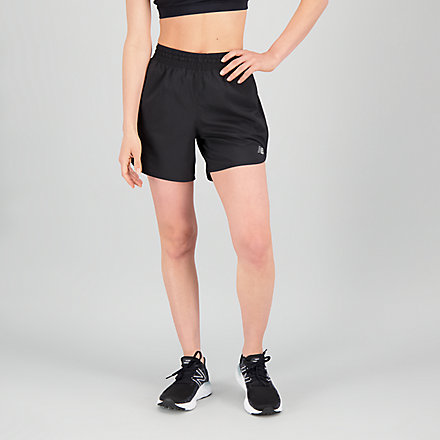 New Balance Accelerate Short 5 Inch, WS01209BK image number null