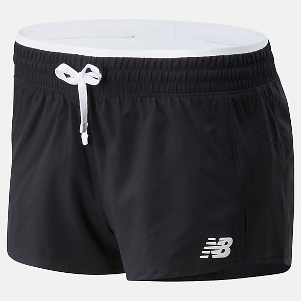 NB Fast Flight Split Shorts, WS01227BKW