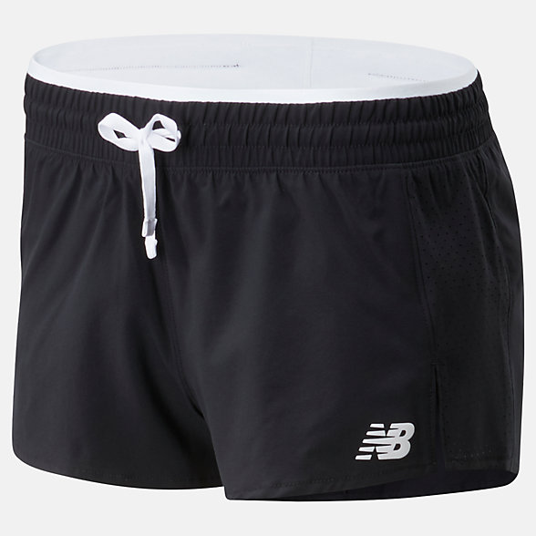 New Balance Short à fente Fast Flight, WS01227BKW