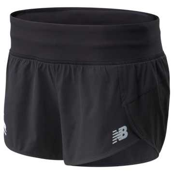New Balance RFL Impact Run Short 3 In, Black
