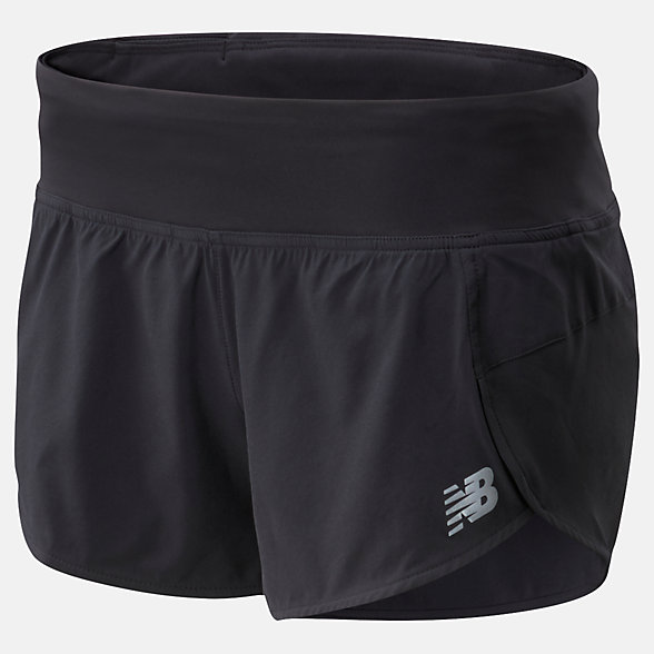 New Balance Impact Run Short 3 Inch, WS01239BK