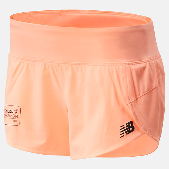 NB London Edition Impact Run Shorts 3 inch, WS01239DGPK
