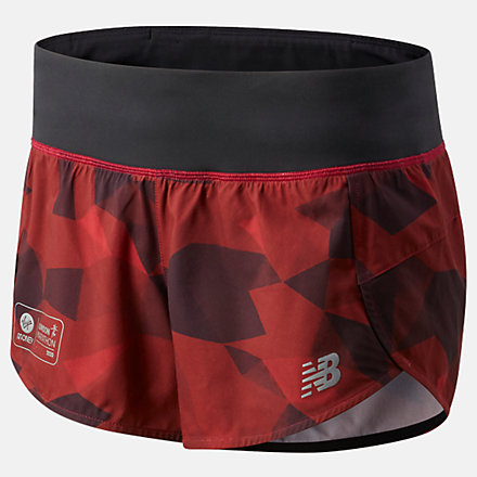 NB London Marathon Printed Impact Run Short 3 Inch, WS01240DNCR image number null