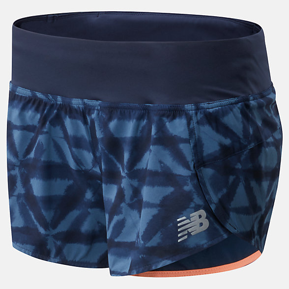New Balance Printed Impact Run Short 3 Inch, WS01240SNB