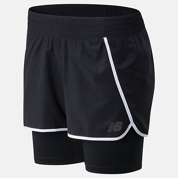 NB Sport 2 In 1 Short, WS01832BK
