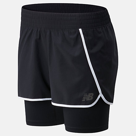 New Balance Sport 2 In 1 Short, WS01832BK image number null