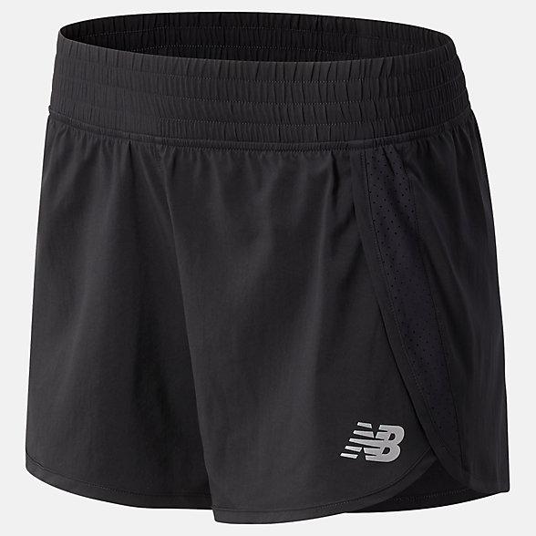 New Balance 女款速干运动短裤, WS11209BK