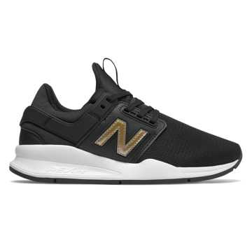 New Balance 247, Black with Gold Metallic