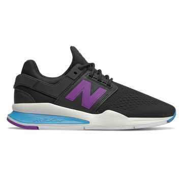 New Balance 247, Black with Cadet Blue