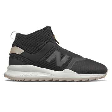 New Balance 247 Mid, Black with Flat White