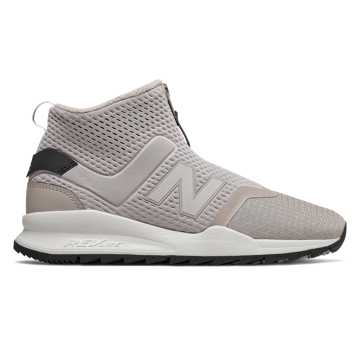 New Balance 247 Mid, Flat White with Black