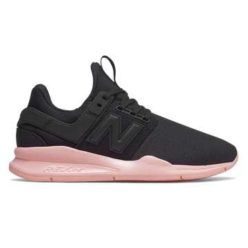 New Balance 247, Black with Himalayan Pink