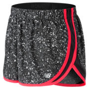 New Balance Accelerate 2.5 Inch Printed Short, Black Crystallized