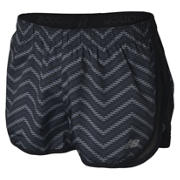 New Balance Accelerate 2.5 Inch Printed Short, Black with Grey