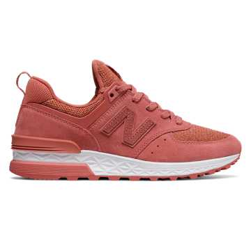 New Balance 574 Sport, Copper Rose with White