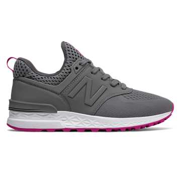 New Balance 574 Sport, Steel with Azalea