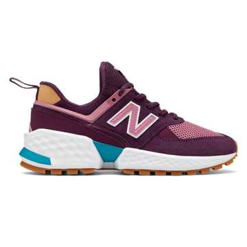 New Balance 574 Sport, Dark Current with Mineral Rose & White