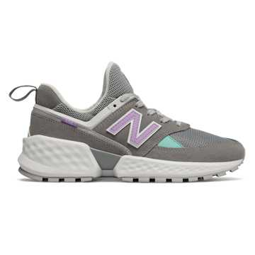 New Balance 574 Sport, Gunmetal with Dark Violet Glo