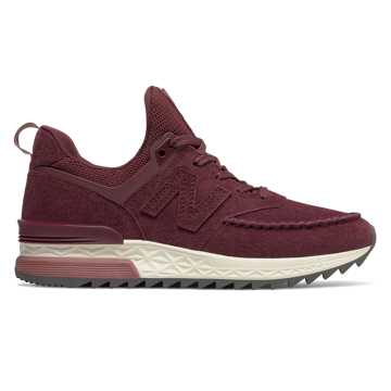 New Balance 574 Sport, Burgundy with Dark Oxide