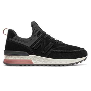 New Balance 574 Sport, Black with Dark Oxide