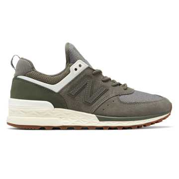 New Balance 574 Sport, Military Green with Angora