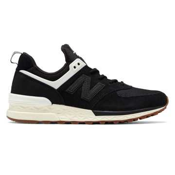 New Balance 574 Sport, Black with Angora