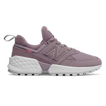 New Balance 574S V2女款复古休闲运动鞋 舒适耐磨  , 灰紫色