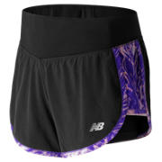 NB Impact 4 Inch 2 in 1 Short, Black with Purple