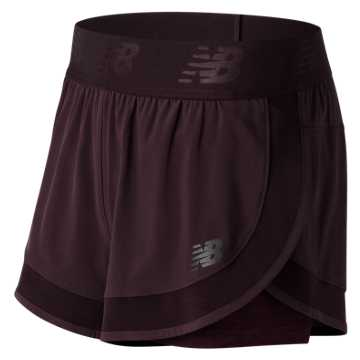 New Balance Transform 2 in 1 Short, Black Rose
