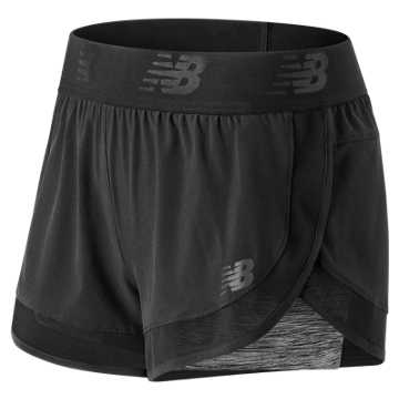 New Balance Transform 2In1 Short, Black