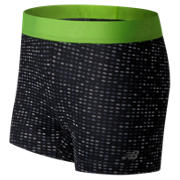 New Balance Accelerate Printed Hot Short, Black with Lime Glo
