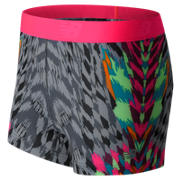 New Balance Accelerate Printed Hot Short, Alpha Pink with Black & White