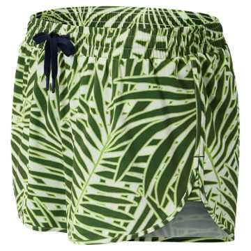 New Balance J.Crew Printed Impact Running Short, Palm Print