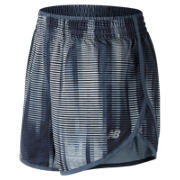 New Balance Accelerate 5 Inch Printed Short, Black with Accelerate Stripe