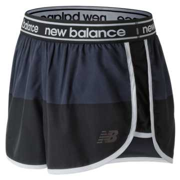New Balance Printed Accelerate 2.5 Inch Short, Black with Grey
