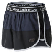 NB Printed Accelerate 2.5 Inch Short, Black with Grey