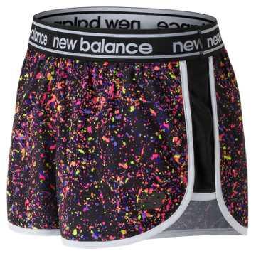 New Balance Printed Accelerate 2.5 Inch Short, Black Multi