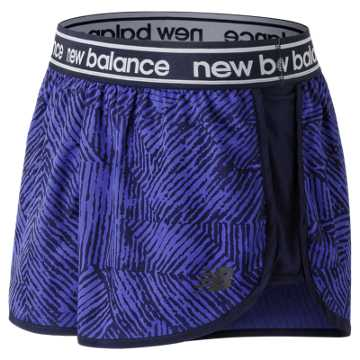 New Balance Printed Accelerate 2.5 Inch Short, Blue Iris