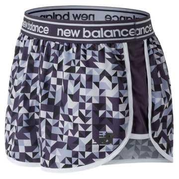 New Balance Printed Accelerate 2.5 Inch Short, Elderberry