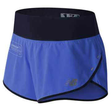 New Balance London Edition 3 Inch Impact Short, Blue Iris with Black