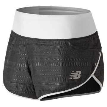 New Balance 3 Inch Printed Impact Short, Black with White