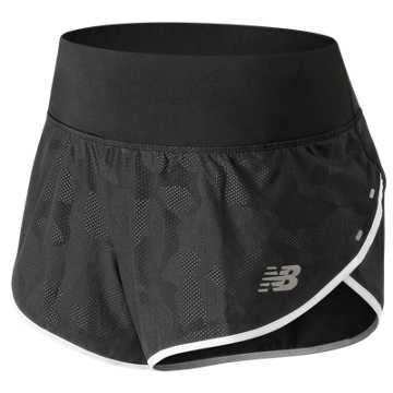 New Balance 3 Inch Printed Impact Short, Black